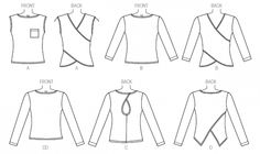Look no further for your ladies tops McCalls sewing pattern Available to buy on-line from Sew Essential. Couture, Flat Sketches, Sewing Basics, Basic Sewing, Cloth Pads, Vogue, Mccalls Sewing Patterns, Pattern Drawing, Blouse Patterns