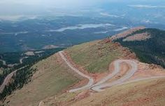 The road up Pike's Peak....one scary ride!