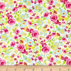 Lola Flannel Multi from @fabricdotcom  Designed for Newcastle Fabric, this double napped (brushed on both sides) flannel is perfect for quilting, apparel and home decor accents. Colors include shades of pink, green, yellow, blue and white.