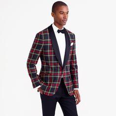 Ludlow shawl-collar tuxedo jacket in plaid Italian wool : blazers & vests | J.Crew