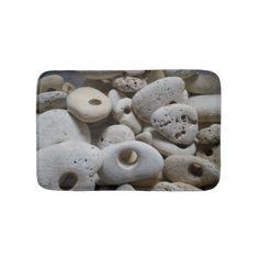 Stones with holes bath mat