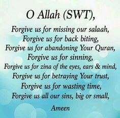 Oh Allah, I've wronged myself but more importantly, I've wronged You. please forgive me ameen. Allah Quotes, Muslim Quotes, Quran Quotes, Religious Quotes, Quran Sayings, Hindi Quotes, Islam Hadith, Islam Muslim, Islam Quran