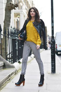 Houndstooth With Mustard
