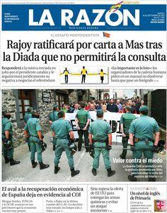 Los Titulares y Portadas de Noticias Destacadas Españolas del 10 de Septiembre de 2013 del Diario La Razón ¿Que le pareció esta Portada de este Diario Español?