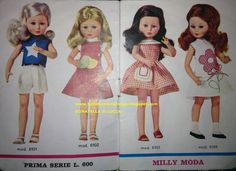 Catalogo Milly Z&Z 02 Doll Toys, Dolls, Vintage Barbie, Summer Dresses, Disney Princess, Disney Characters, Babies, Clothes, Fashion