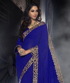 Flash your traditional side with the latest in ethnic fashion. Sarees that accentuate the modern woman's charm, come in bright hues with smooth textures and heavy motif work. Revel in this super trendy collection for dramatic glamour. BRAND: RCPCCATEGORY: Saree with Unstitched BlouseARTICLECOLOURMATERIALLENGTHSareeRoyal BlueFaux Georgette5.30 metersBlouseRoyal BlueDupion Silk0.80 meterWe would always want to send you what we showcase but there might be a slight variation in color due to ...