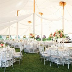 White and Silver Tented Wedding Reception   Brian Dorsey Studios   TheKnot.com