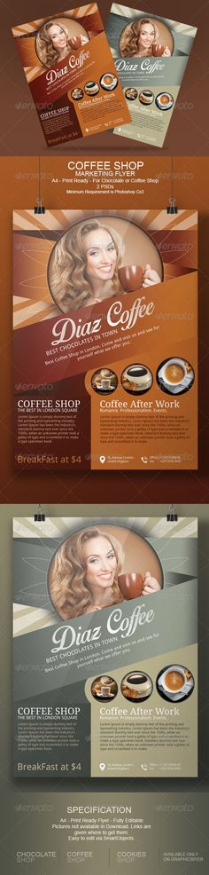 yoga flyer templates Flyer Design Pinterest Flyers, Flyer - coffee shop brochure template