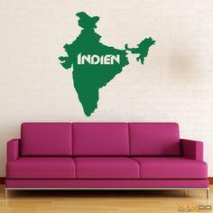 "Wandtattoo ""Indien"" - ab 9,95 € | Xaydo Folientechnik"