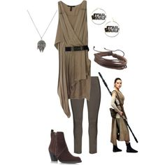 Rey *Star Wars: The Force Awakens* by pearl-marley on Polyvore featuring BCBGMAXAZRIA, Zhenzi and Acne Studios