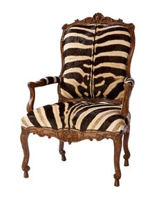 Jesi Arm Chair by @ebanistacollect in Authentic Zebra Hide from Collection Ten by Ebanista. Discover more at www.ebanista.com