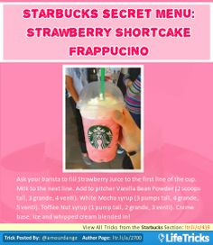 Starbucks Secret Menu: Strawberry Shortcake Frappuccino