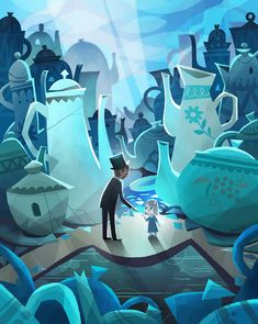 """(2) """"Oz, The Great and Powerful"""" art by Joey Chou and is displayed at the WonderGround Gallery at Downtown Disney in Anaheim, CA"""