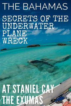 The amazing underwater plane wreck at Staniel Cay Bahamas. Visit Staniel Cay from Nassau Bahamas or direct from Florida with flights to Bahamas with Bahamas Air Tours. Staniel Cay is located in the Exuma Cays, Exuma Bahamas. This really is one of the unique things to do in Bahamas. Learn more about how this plane crashed here and who was flying it, and it's top secret cargo, in our Staniel Cay Exuma Bahamas article.