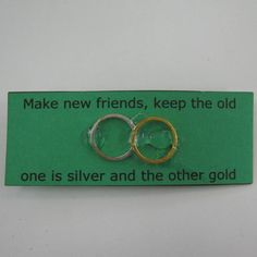 Gs Swaps | Silver and Gold Swap | Girl Scout Swaps Ideas