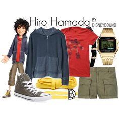 Hiro Hamada by leslieakay on Polyvore featuring Gap, rag & bone, Converse, Timex, disney, disneybound and disneycharacter