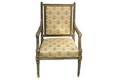 19th-C. French Empire-Style  Fauteuil