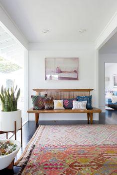 Big Bench   A Boho Luxe Home Thatu0027s Pure California Cool