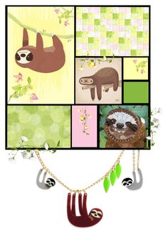 """""""Sloth"""" by susonwil83 ❤ liked on Polyvore featuring art"""