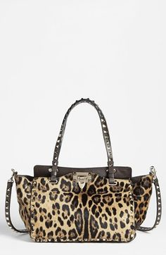 Valentino 'Rockstud - Mini Cavallino' Calf Hair Crossbody Bag