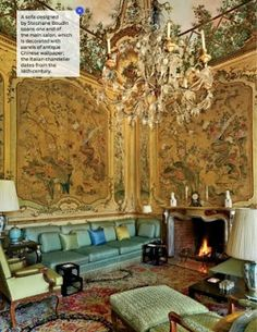 Architectural Digest September 2014 Chinoiserie at Agnelli North Italy estate