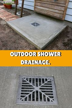 Outdoor Bathrooms 624311567078287437 - Simple Drainage Solution for DIY Outdoor Shower Source by Outdoor Pool Shower, Outdoor Shower Enclosure, Outdoor Toilet, Outside Showers, Outdoor Projects, Outdoor Decor, Outdoor Living, Diy Projects, Outdoor Bathrooms