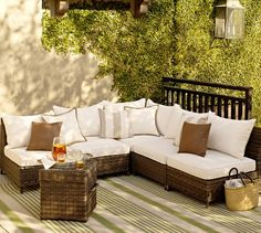 Build Your Own - Torrey All-Weather Wicker Sectional Components   Pottery Barn