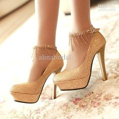 Details about WOMENS GOLD SATIN DIAMANTE PLATFORM BOW PROM SHOES ...