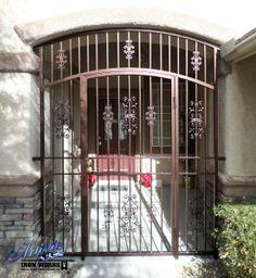 Econoline - Wrought Iron Front Door Security