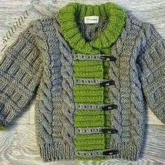 - Craft and Knitting Models Baby Knitting Patterns, Baby Cardigan Knitting Pattern Free, Baby Hats Knitting, Knitting For Kids, Knitting Stitches, Knitting Designs, Baby Patterns, Knit Baby Sweaters, Boys Sweaters