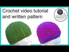 Crochet waves hat promotional video - YouTube