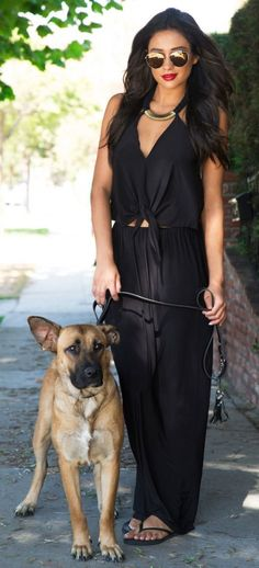 Shay Mitchell in our Tbags Convertible Maxi Dress