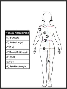 how to take measurements of a dress