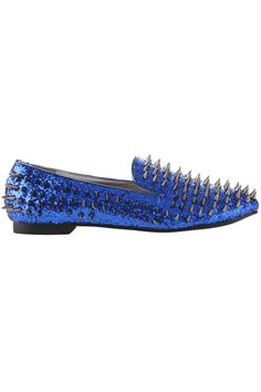All-over Riveted Sequin Blue Shoes    $78.50  romwe.com #Romwe