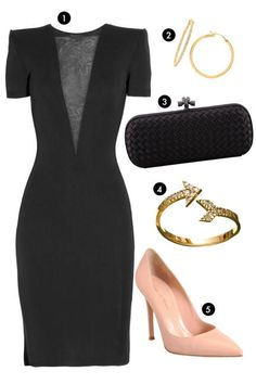 A sexy LBD and simple accessories are all you need for date night
