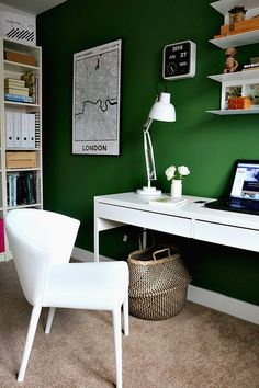 green home office light green home office with green walls white furniture and lots of lovely plants diy office desk the 473 best home offices images on pinterest in 2018