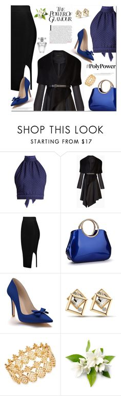 """""""What's Your Power Look?"""" by sharoncrotty ❤ liked on Polyvore featuring CECILIE Copenhagen, BCBGMAXAZRIA, Shoes of Prey, INC International Concepts, Avon and powerlook"""