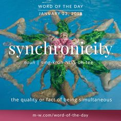 Today's #wordoftheday is 'synchronicity'  .  #merriamwebster #language #dictionary