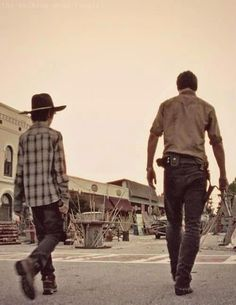 Rick and Carl Grimes ~ The Walking Dead ~ Season 3
