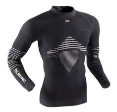 X-Bionic Energizer MK2 Shirt Long Sleeves Turtle Neck , Colore: Black/White