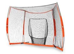 "Bow Net Hitting Station Portable Net (12 x 8-Feet) by Bow Net. $299.95. The Bownet Portable Hitting Station is a one-of-a-kind new portable sports net that works great for baseball or softball practice. The key to the product design is the ""bow"" in the poles, which allows the poles to flex, and puts less stress on the net. Measures 12 feet wide by 8 feet high. Great for soft-toss, tee work, infield practice and more"