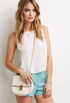 Faux Leather Lock Crossbody | Forever 21 - 1000078380
