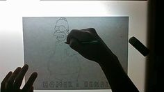 Draw live homer simpson e bender by andydraw on Livestream - Livestream.com