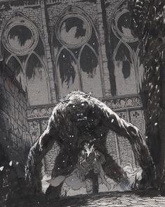 Comic Book Layout, Comic Books Art, Dark Fantasy, Fantasy Art, Bd Comics, Hellboy Comics, Goth Art, Comic Styles, Monster Art