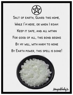 Salt spell for the home, protection spell