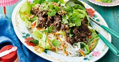 The fresh flavours of Vietnam are showcased in this vibrant lemongrass beef salad.