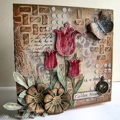 PaperArtsy: Welcome Sue Carrington #1 Golden Hours .  avec toutes les étapes