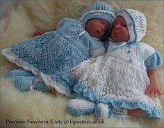 Baby Knitting Pattern - Download PDF Knitting Pattern for Bonnie  Baby Girls or Reborn Dolls Dress, Bonnet & Booties