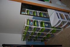 PVC storage shelving...