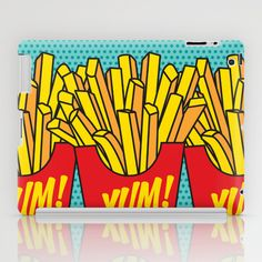Would You Like Fries With That? Large iPad Case french fries chips junk food snack